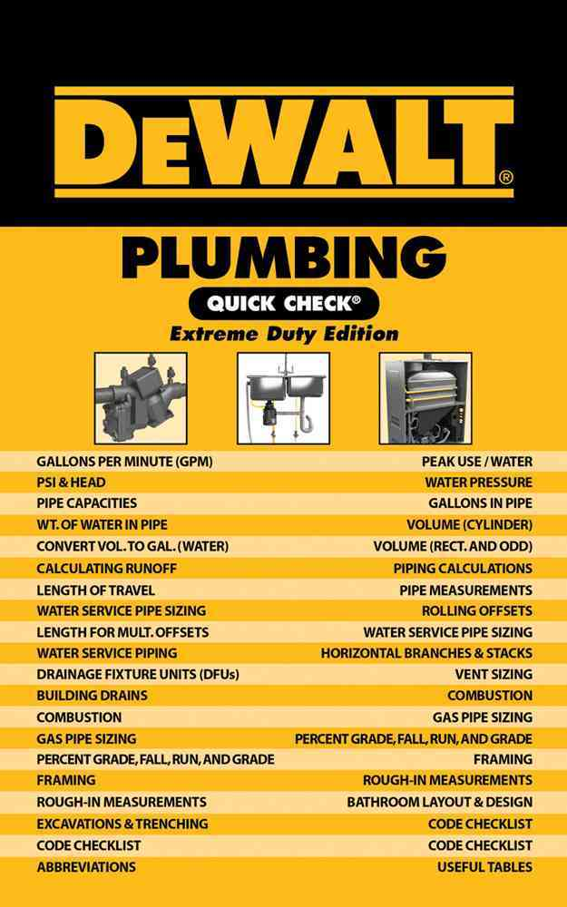 DeWalt Plumbing Quick Check By Prince, Christopher